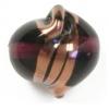 Glass Lamp Bead 15x14mm Twister Amethyst/Bronze